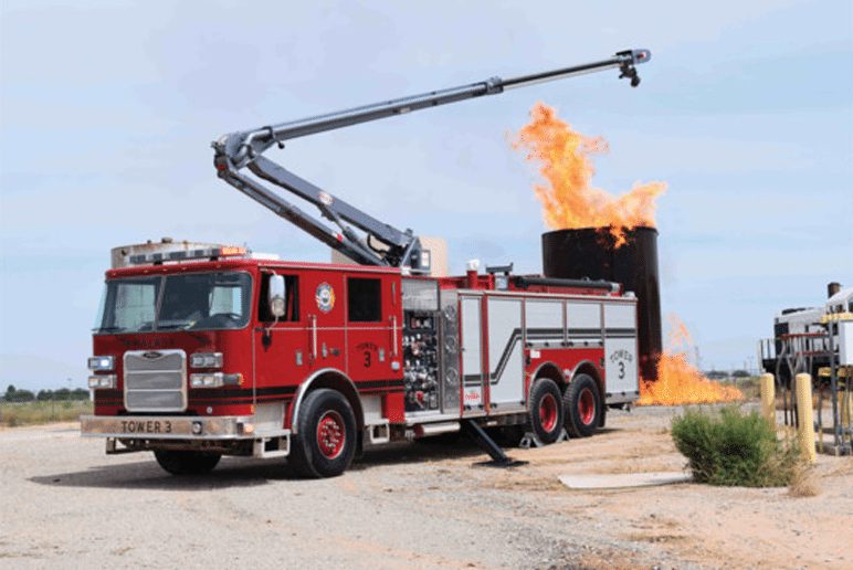 Pierce Pumper with Snozzle Turret Protects NM Oil Facilities