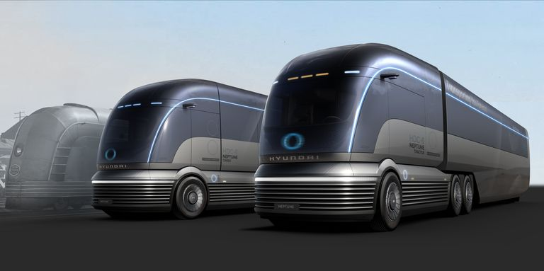 Hyundai's Hydrogen Semi-Truck Concept Is Built to Take on Tesla